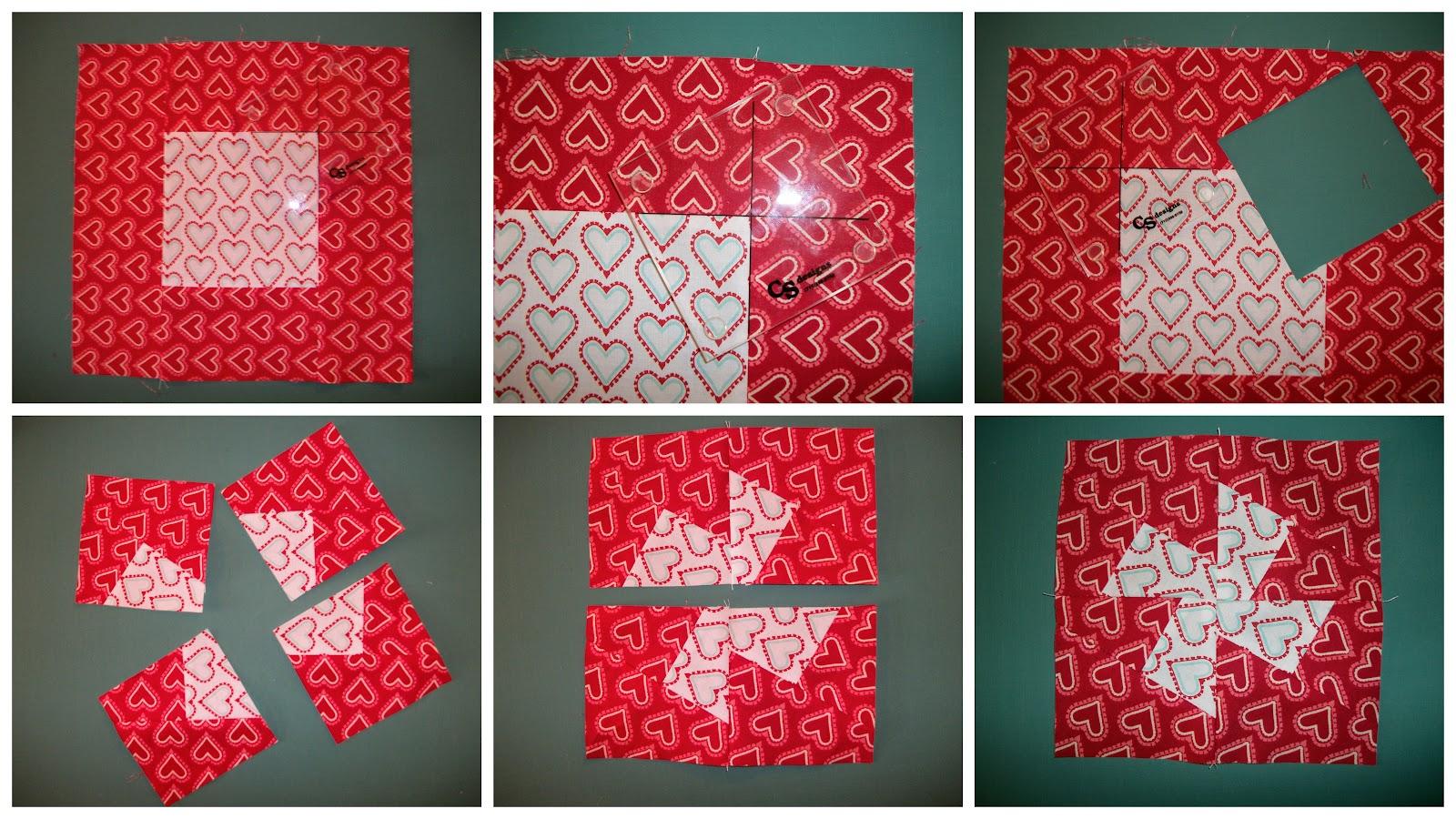 Twister Quilt Pattern Directions : Craizee Corners: Twisted Pinwheel Mug Rug