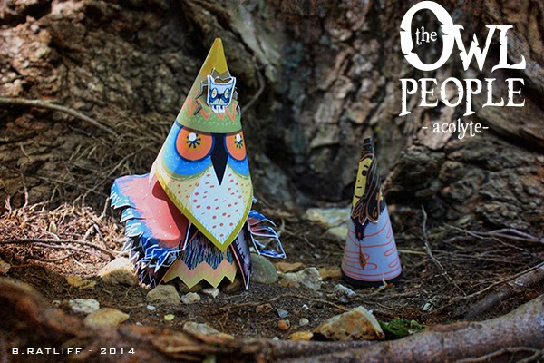 Owl People Acolyte Paper Toy