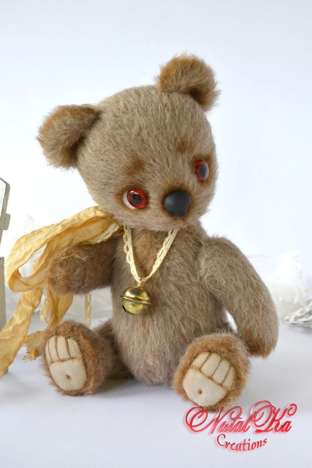 Künstlerbär Bär Sammlerbär  Teddybär Teddy handgemacht von NatalKa Creations. Artist teddy bear teddy bear ooak handmade by NatalKa Creations