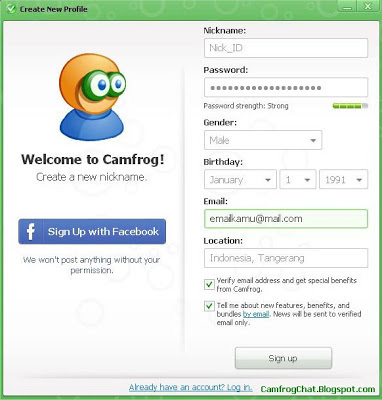 Register ID Camfrog 6.4