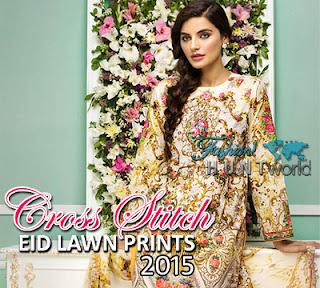 Cross Stitch Eid Lawn Prints 2015