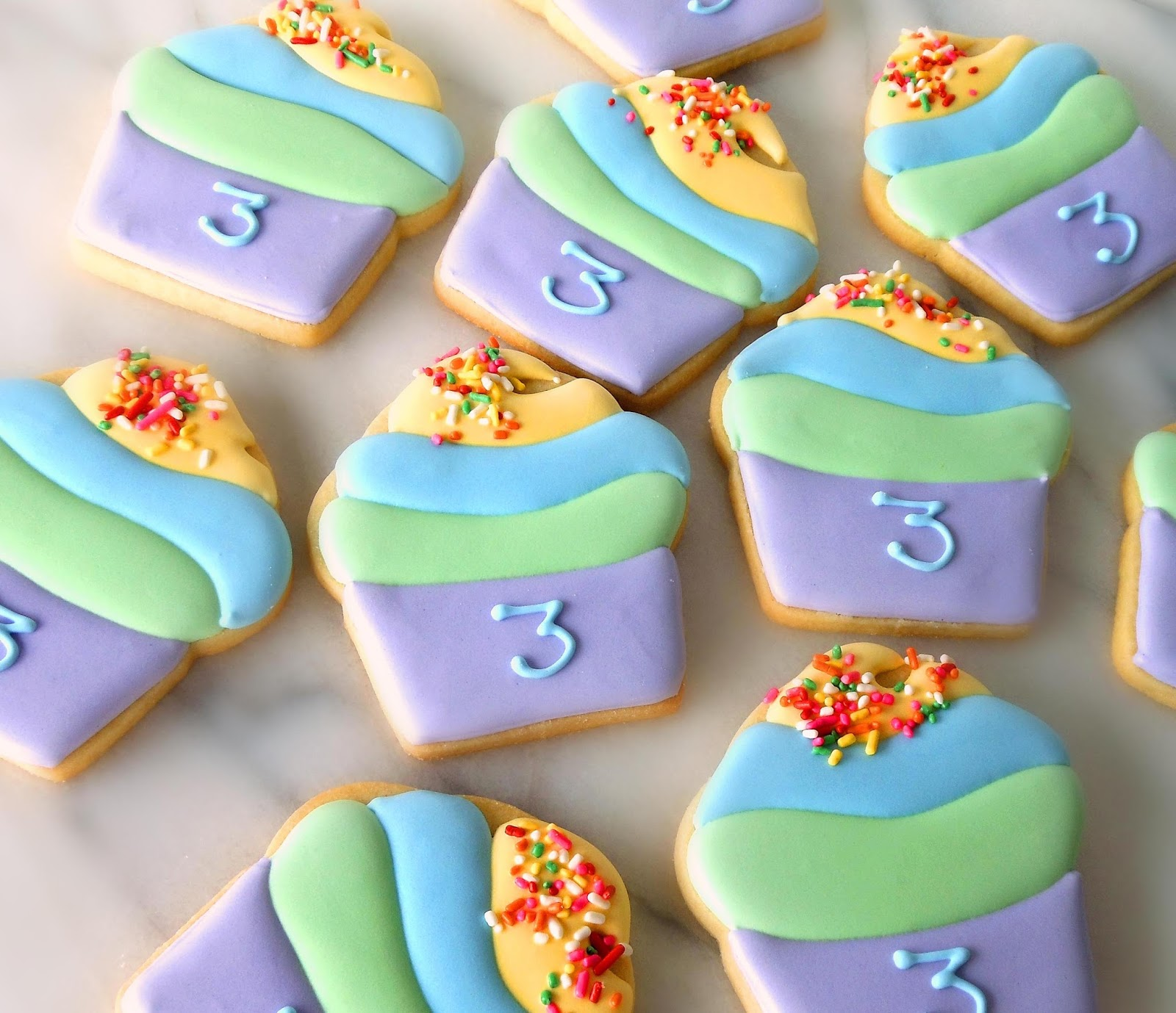 Number 3 cookies by Miss Biscuit | Cookie decorating, Royal icing ...
