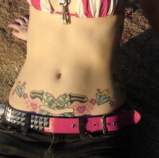 female tattoos on hip