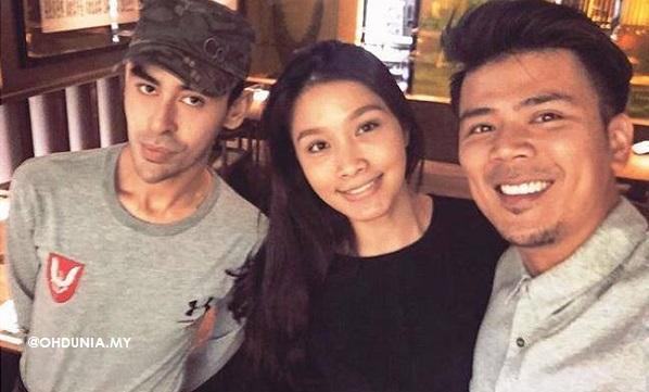 Awal Ashaari, Scha Alyahya berfoto sakan dengan Tunku Jalil di Restoran