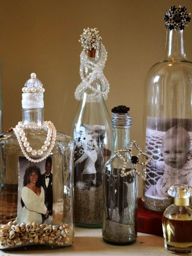 How to decorate your old alcohol bottles into photo frame - How to decorate old bottles ...