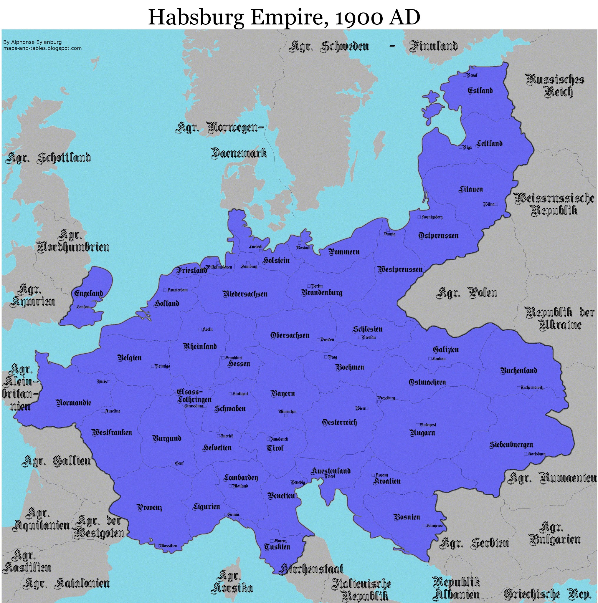 Maps and Tables 2 Fictive Empires Vikings and Habsburg claim