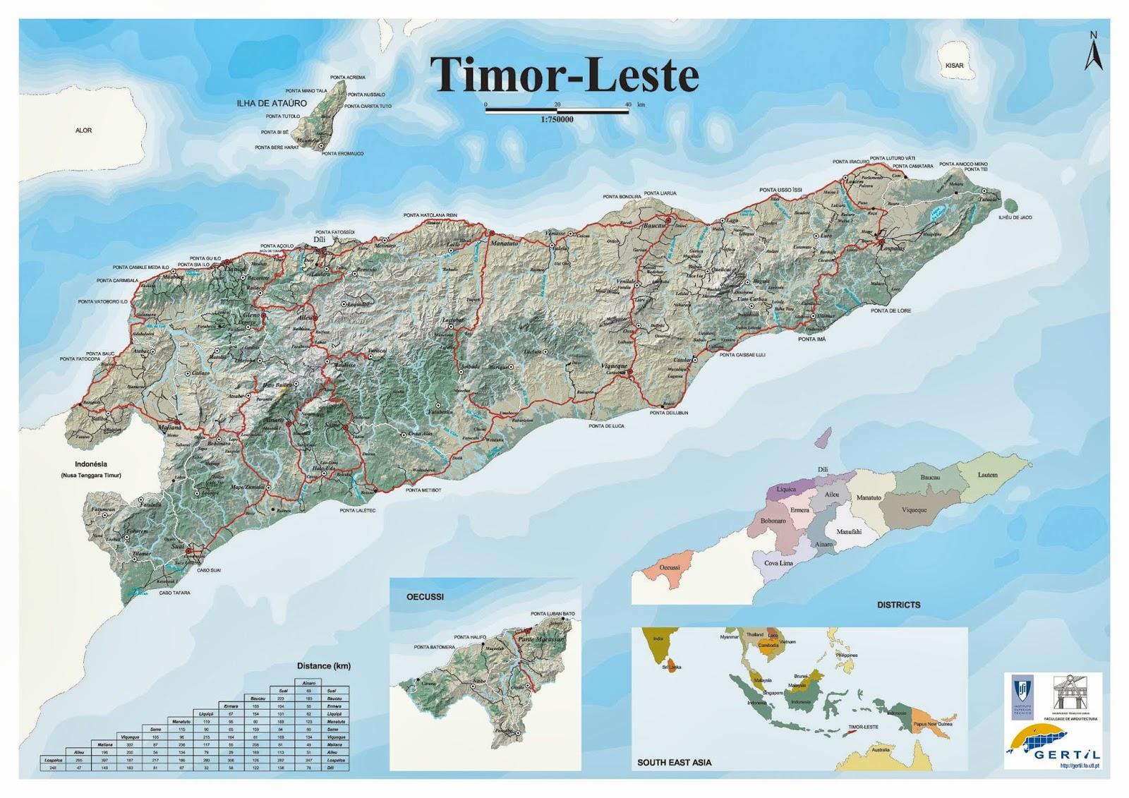 Aeroporto Comoro : Mapas de dili timor leste