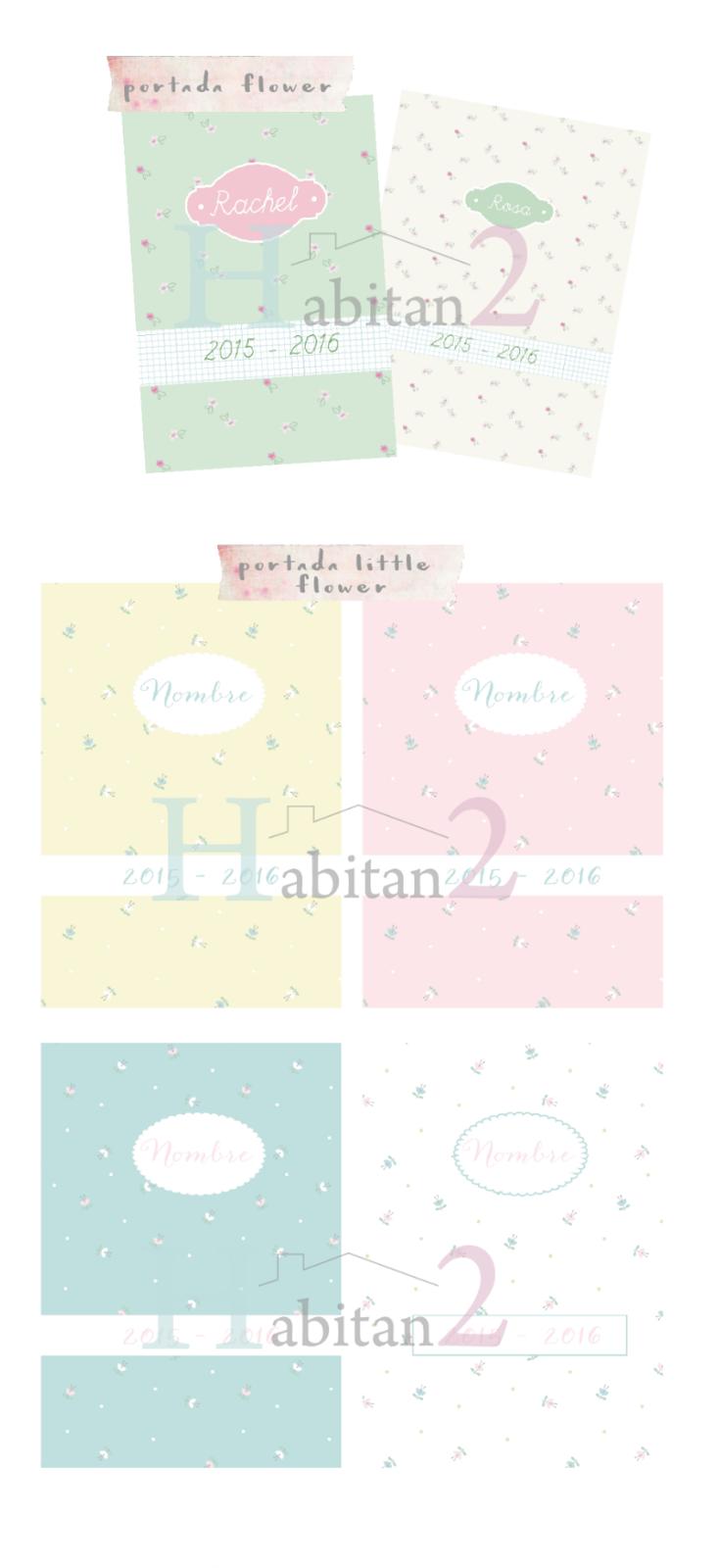 Portadas personalizadas para la agenda escolar diseño de Habitan2