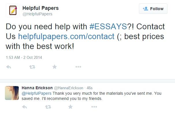 HelpfulPapers Twitter