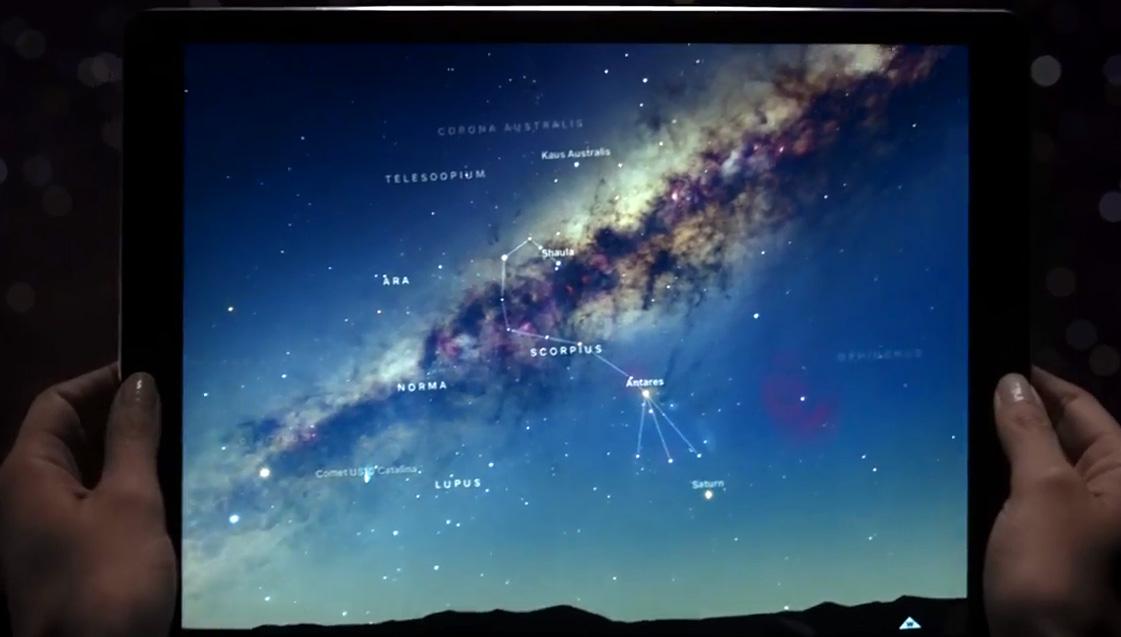 iPad Pro 首支電視廣告:螢幕能裝下整個宇宙