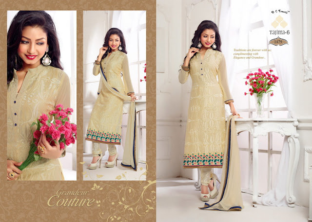 Beautiful Embroidery Work Straight Salwar Kameez