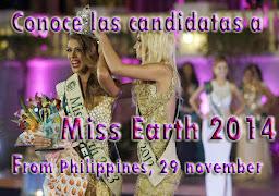 Conoce las Candidatas a Miss Earth 2014, Haciendo Click en la Imagen.