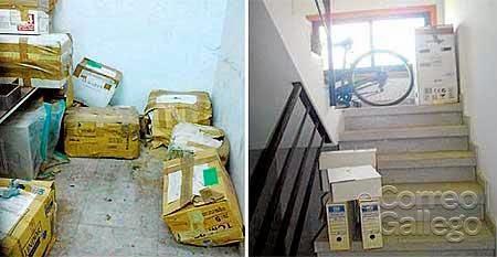 VILAGARCÍA Estado de algunos documentos tras una inundación, y escaleras y descansillos usados como archivo - FOTO: AX-CUT