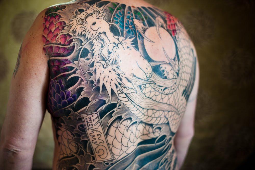 pin japanese irezumi full color dragon and koi carp sleeve tattoo 06 on pinterest. Black Bedroom Furniture Sets. Home Design Ideas