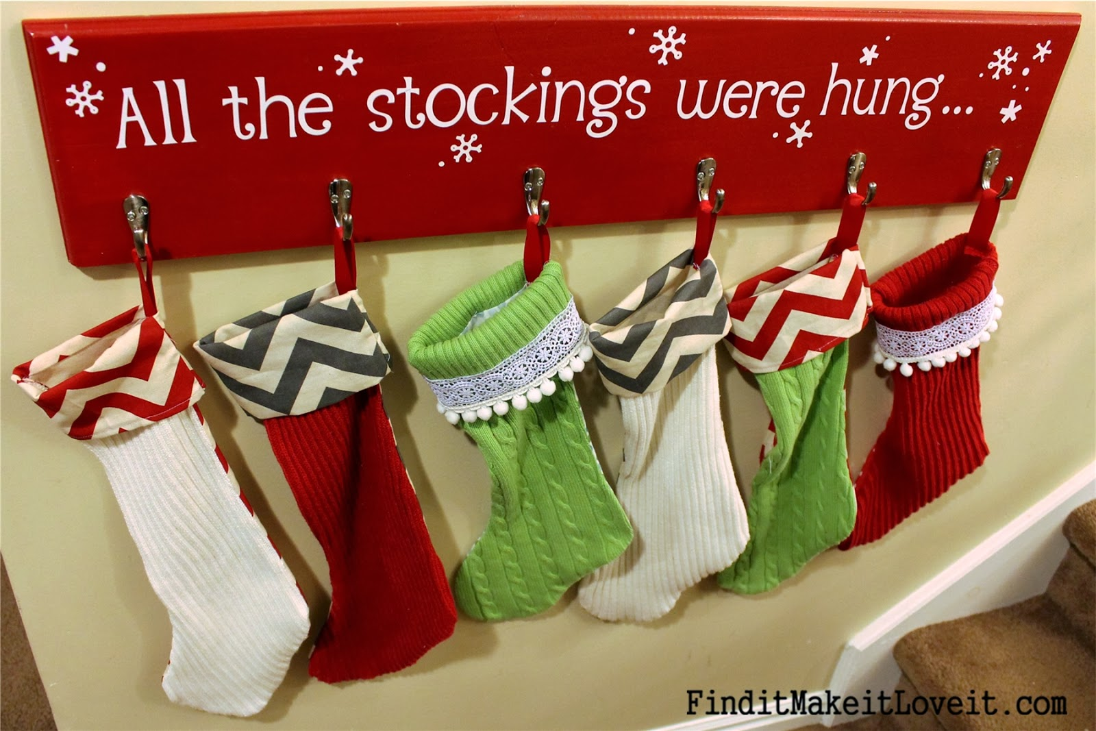 Diy stockings from thrift store sweaters find it make it love it solutioingenieria Gallery