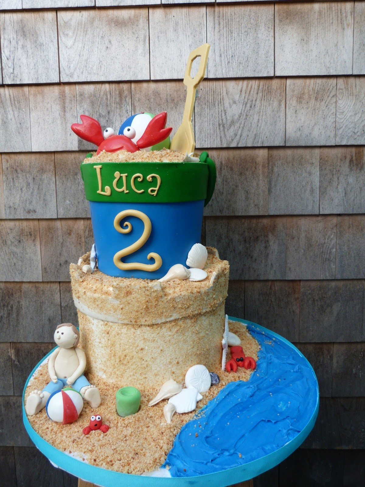 Artisan Bake Shop Cape Cod Sand Pail And Sand Castle Cake At