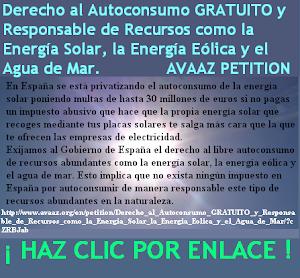 Derecho al Autoconsumo GRATUITO y Responsable de Recursos como la Energía Solar, la Energía Eólica