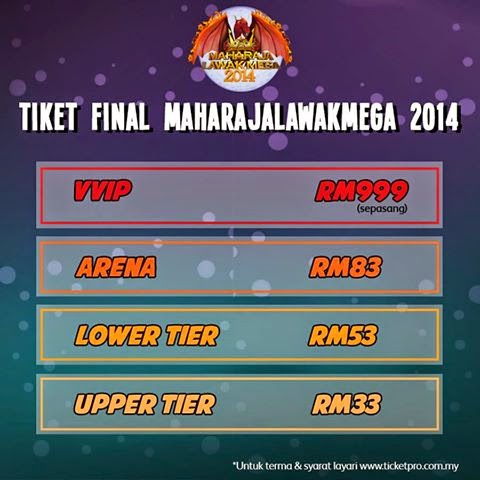 Tiket Final Akhir Maharaja Lawak Mega 2014
