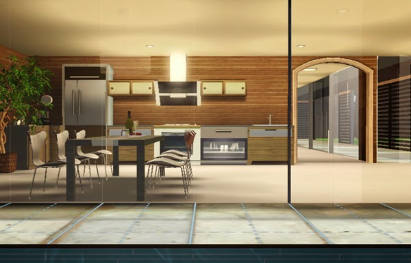 [LIVING DESIGN] WOODEN BOX HOUSE THE SIMS 3 dining