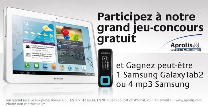 Gagnez une samsung Galaxy Tab2
