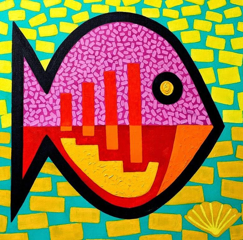 Cuadros pinturas oleos im genes modernas cuadros con peces for Cuadros con peces