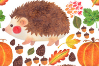 Autumn Hedgehog Pattern by Haidi Shabrina