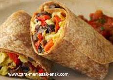 resep praktis dan mudah membuat (memasak) masakan khas mexico burritos spesial enak, gurih, lezat