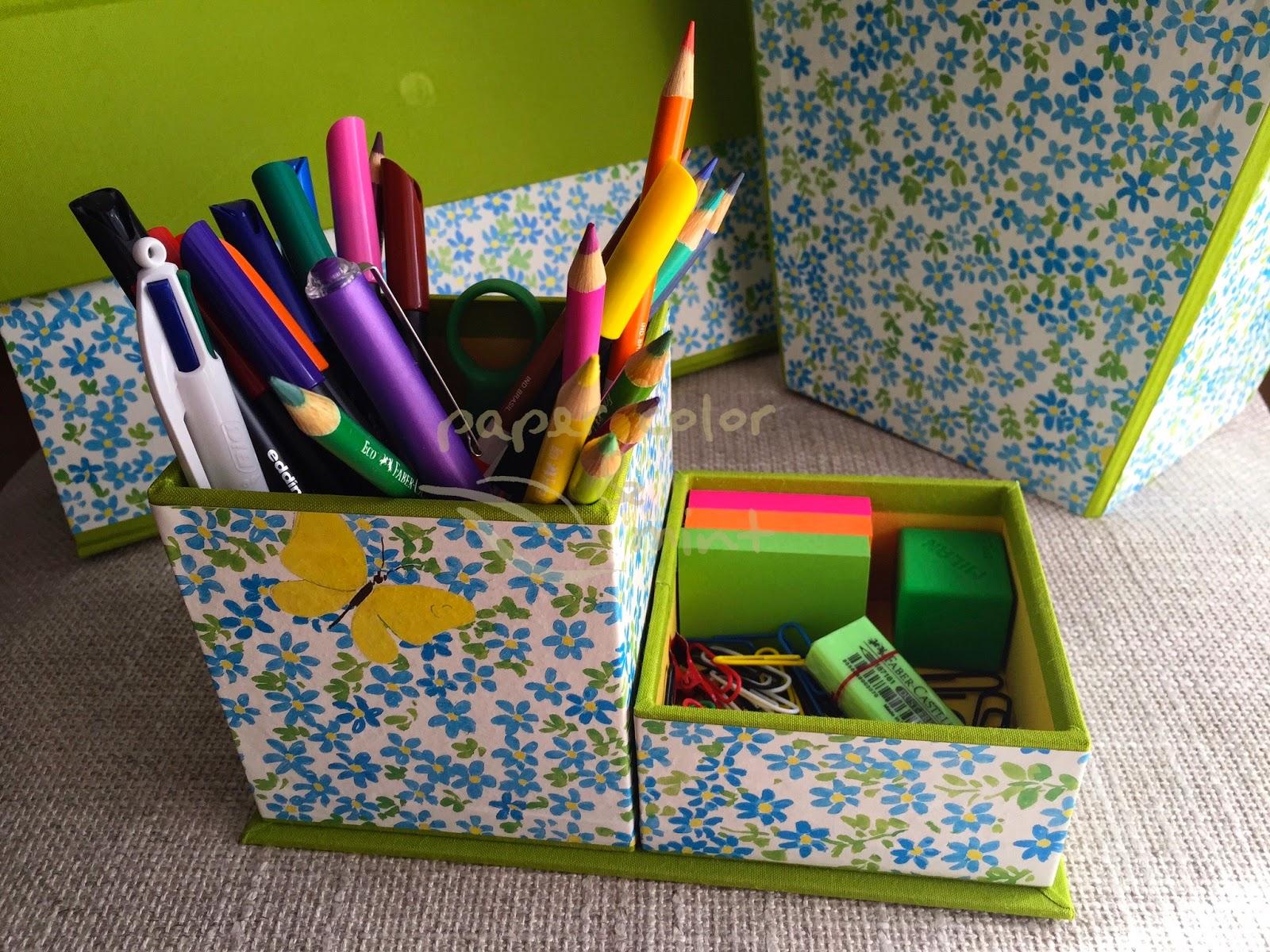 Paper color and mint juego de escritorio cartonnage - Juego de escritorio ...