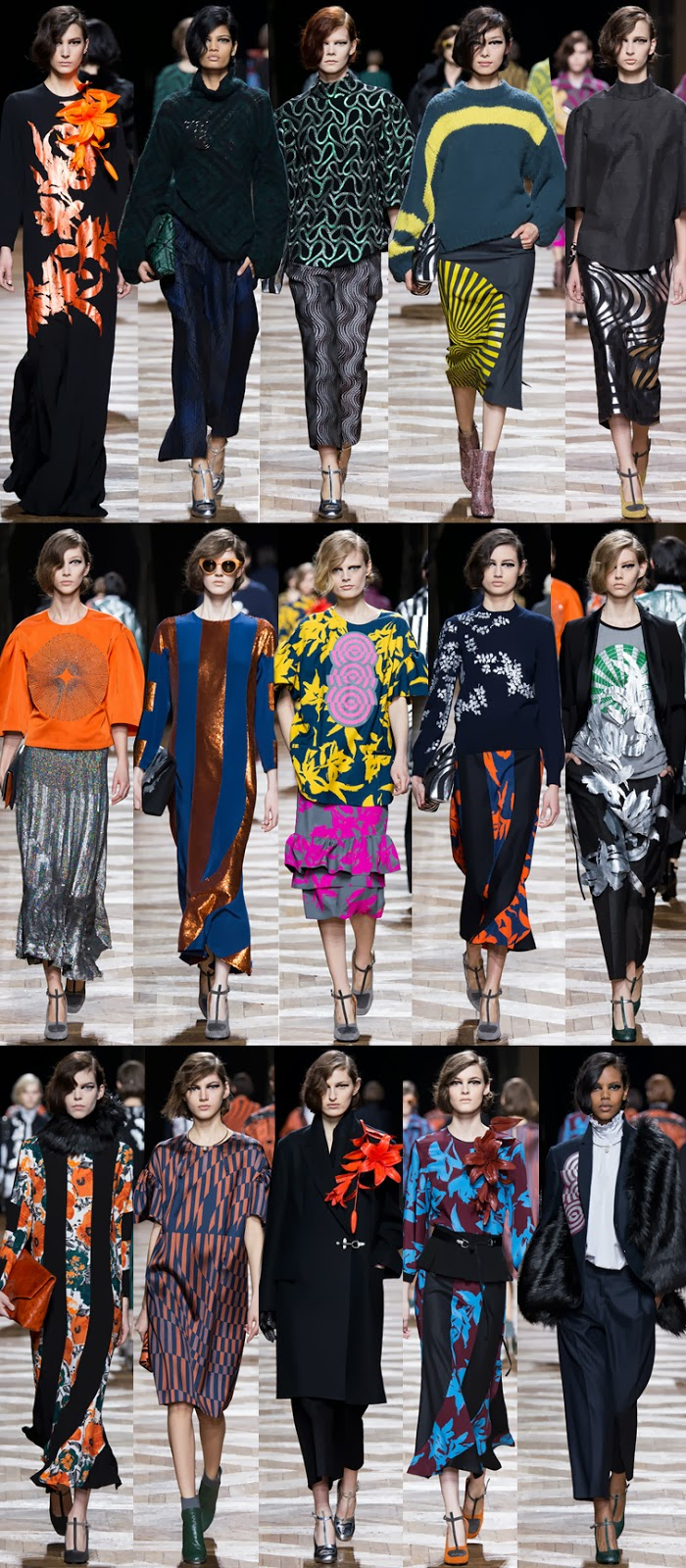Dries Van Noten fall winter 2014 runway collection, PFW, Paris fashion week, FW14, AW14