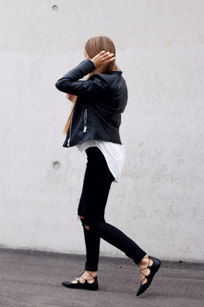 Leather Jacket U0026 Lace Up Flats | BY ANNA Fashion And Lifestyle Blog From Stuttgart