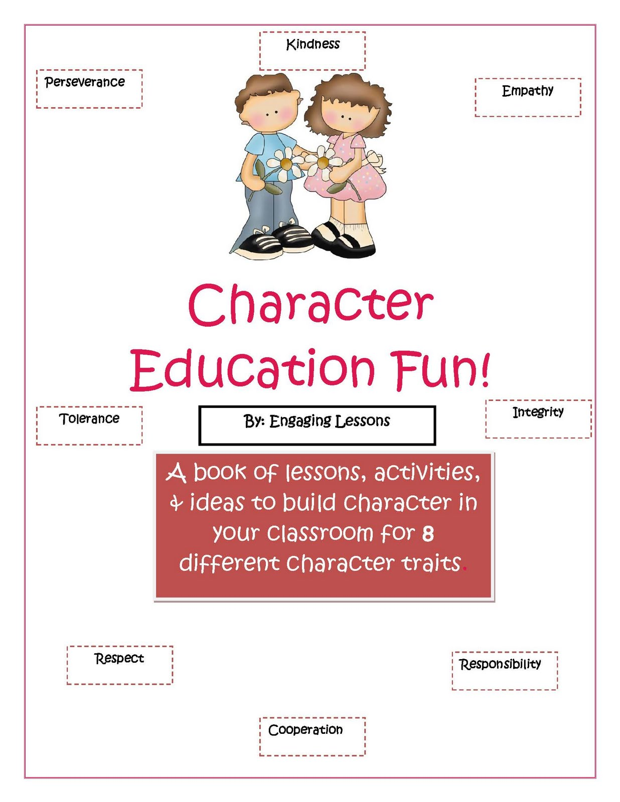 Character education worksheets free