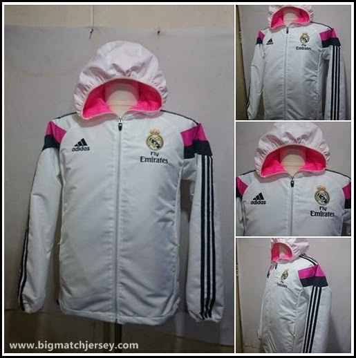 Jaket Taslan Waterproof Madrid White