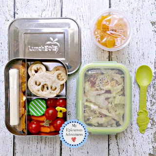 My Epicurean Adventures - Taco salad lunch with koala tortillas #lunchboxfun #lunchboxideas