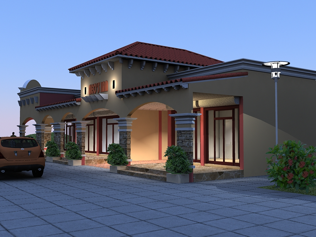 Adc drafting design render one storey 12 units commercial for Single story commercial building design