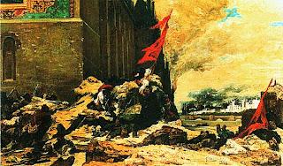 Жорж Клерен. Поджог Тюильри. 1871.