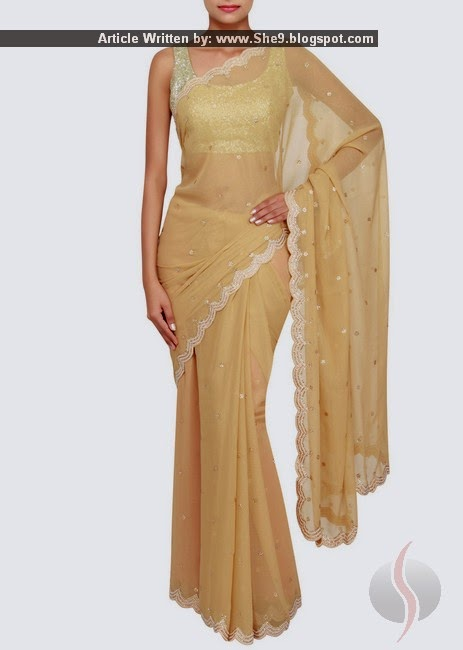Indian Chiffon Saree Pictures
