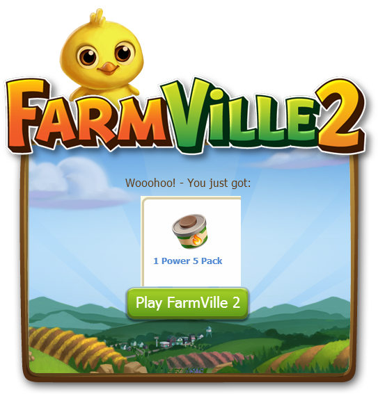 Farmville 2: Claim 1 Power 5 Packs
