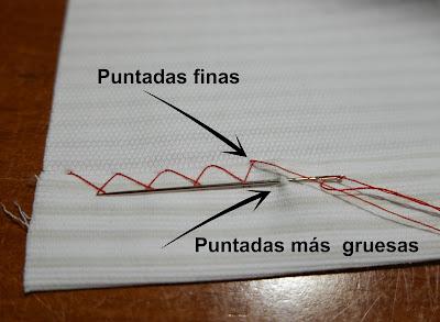 diferentes puntadas escapulario