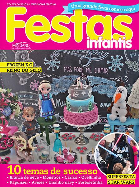 Revista Festas Infantis com a festa Frozen by A Fê faz! na capa!