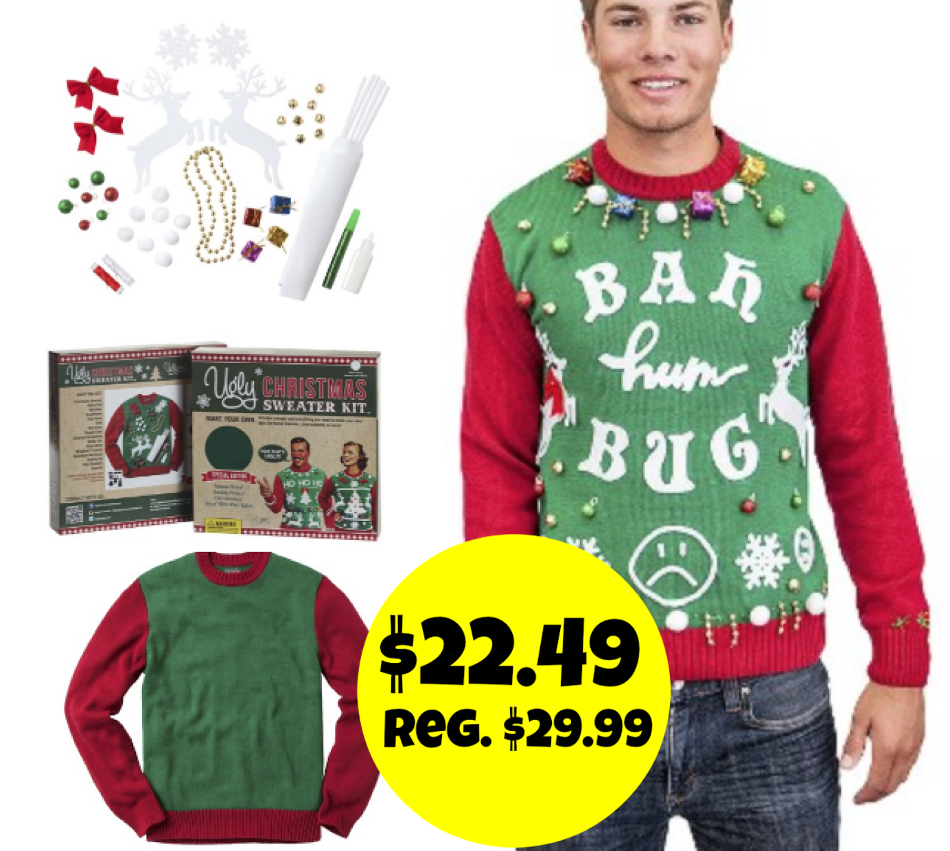 http://www.thebinderladies.com/2014/11/targetcom-diy-ugly-christmas-sweater.html#.VGphPofduyM