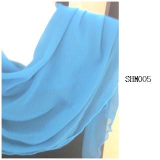 shawl halfmoon plain turquoise