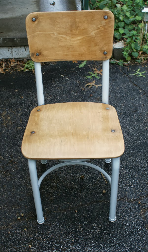 Vintage School Chair Refinished and Repainted