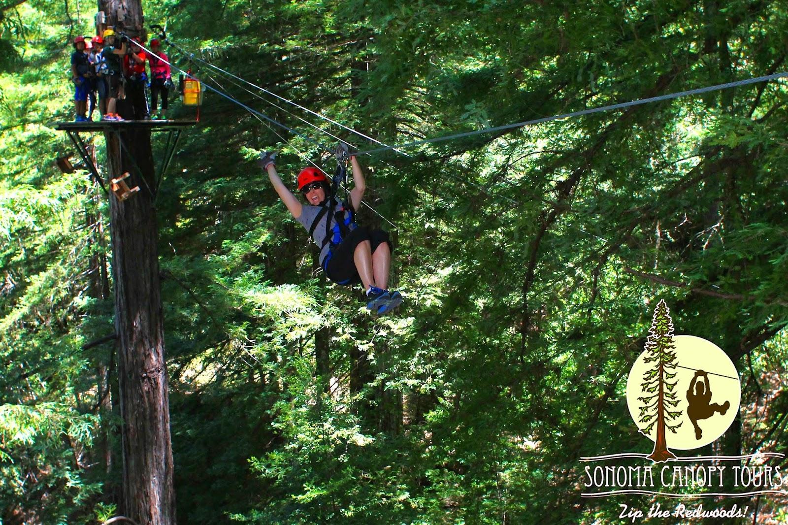 Lisa Kentzell Zip Lining 2014 - Lisa showing off & Sonoma Canopy Tours - Zip Lining 2014 | Life of Lisa Laporte