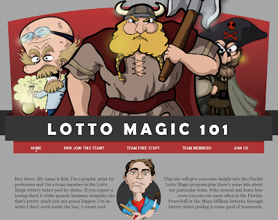 Lotto Magic 101 web site screenshot!