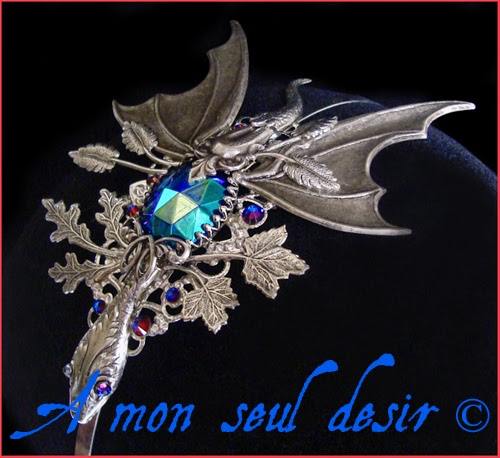 Serre-tête Dragon médiéval renaissance Daenerys Targaryen Skyrim Headband Smaug Headdress