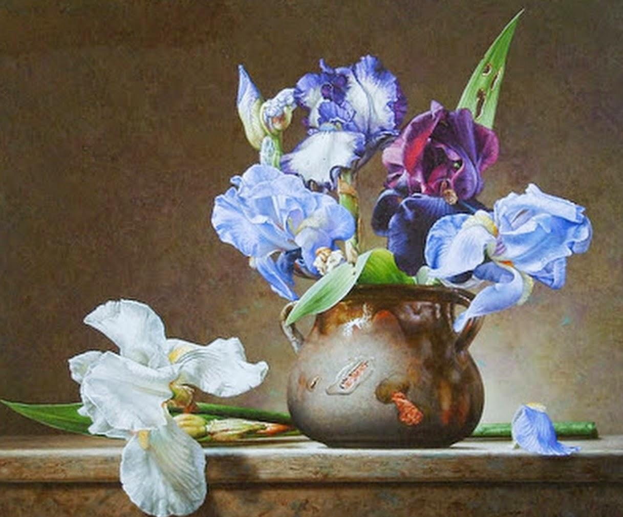 with cuadro de flores para pintar