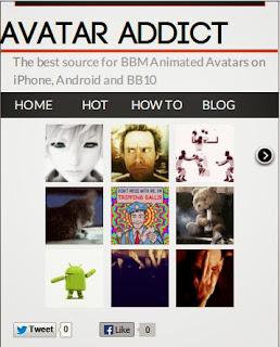 AvatarAddict.com homepage
