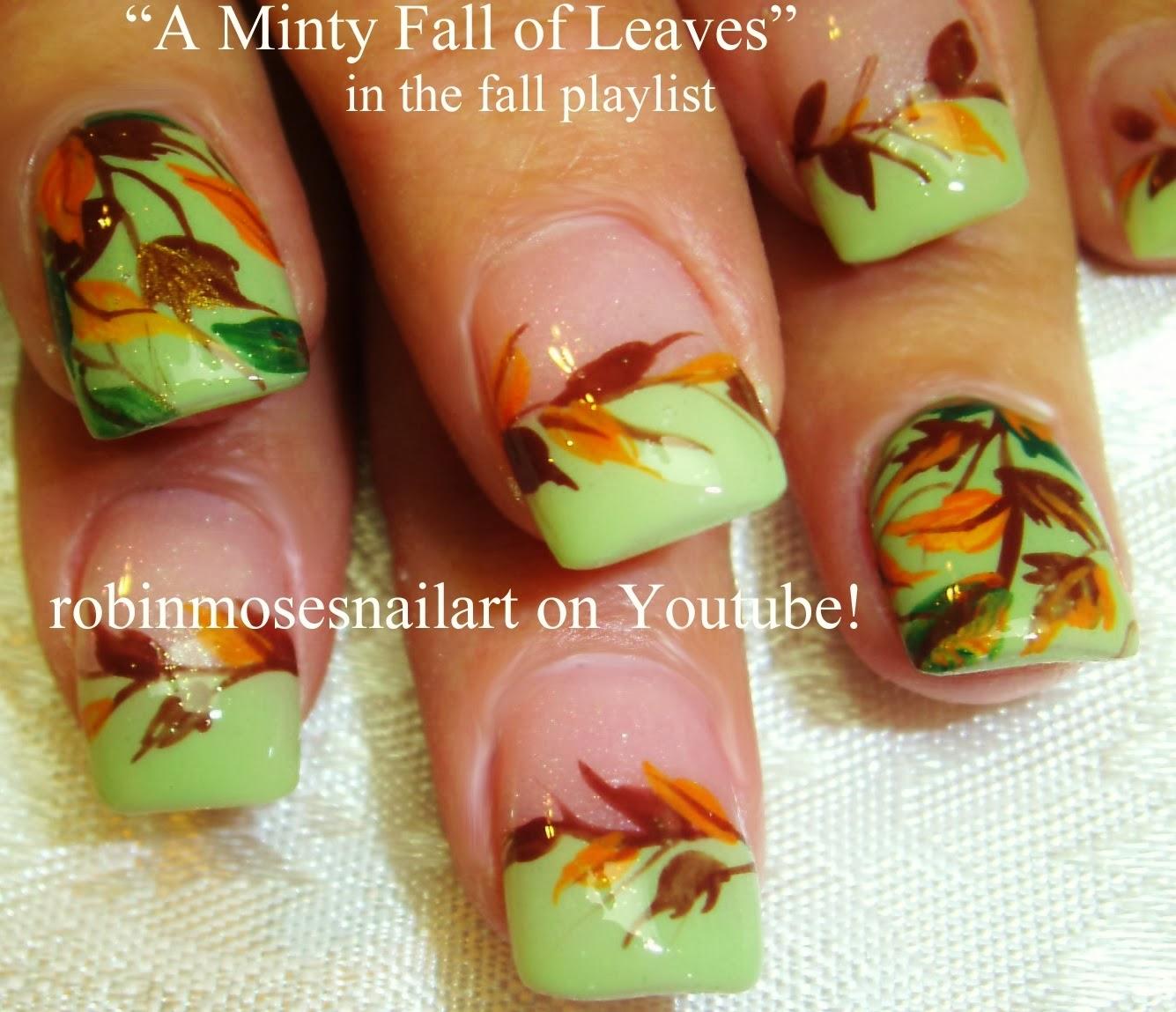 "Cute Easy Fall Nail Designs: Robin Moses Nail Art: ""fall Leaves"" ""fall Leaf"" ""nail Art"