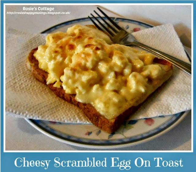 Rosie's Cheesy Scrambled Eggs On Toast