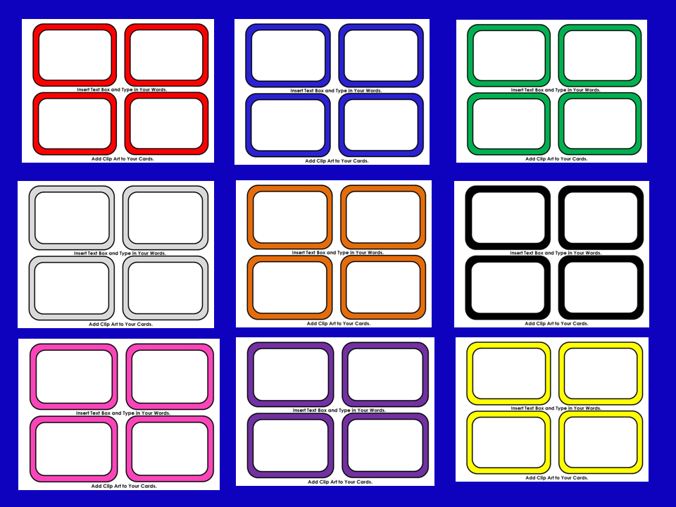 board game instructions template